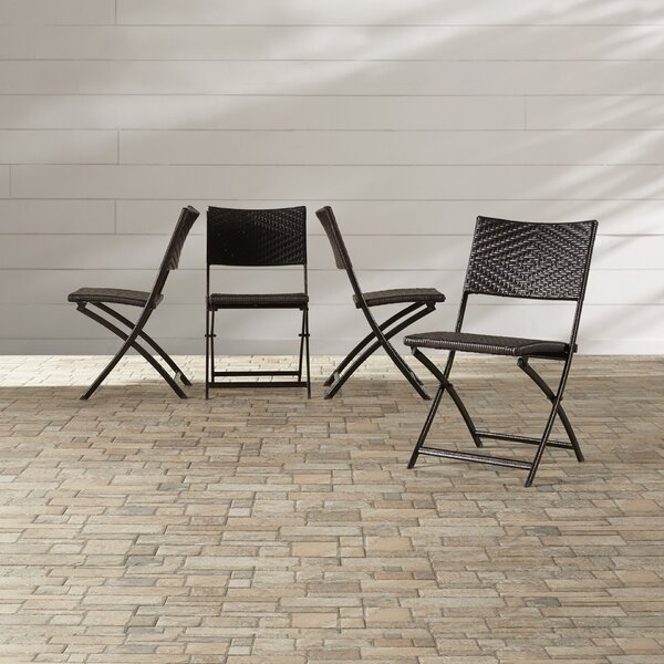 Womack Folding Patio Dining Chair (Set Of 4) By Wrought Studio