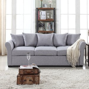 Harland Linen Sofa by Red Barrel Studio
