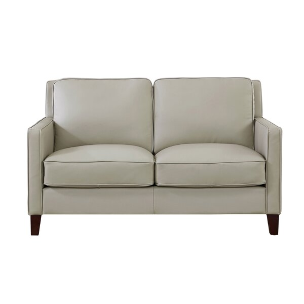 Dieman Leather Loveseat By Latitude Run