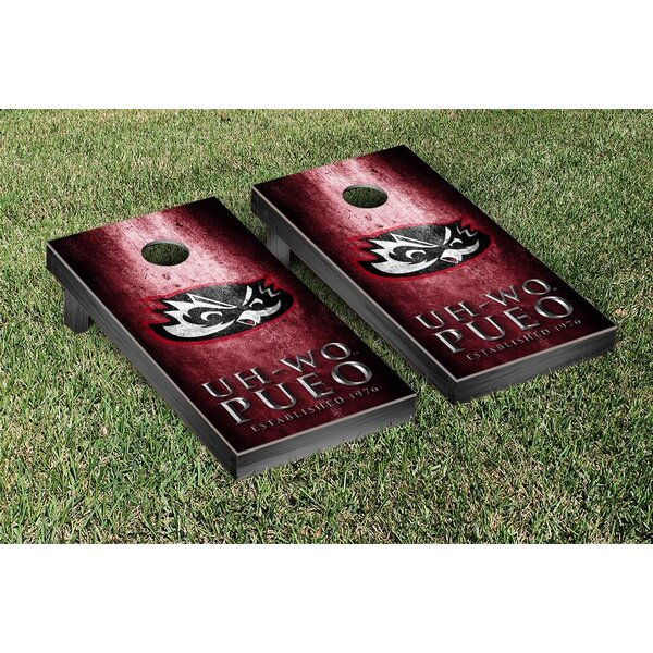 Hawaii West Oahu Pueo Metal Version Cornhole Game Set by Victory Tailgate