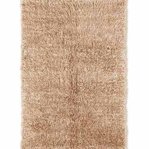 Ransdell Flokati Wool Neutral Area Rug by Latitude Run