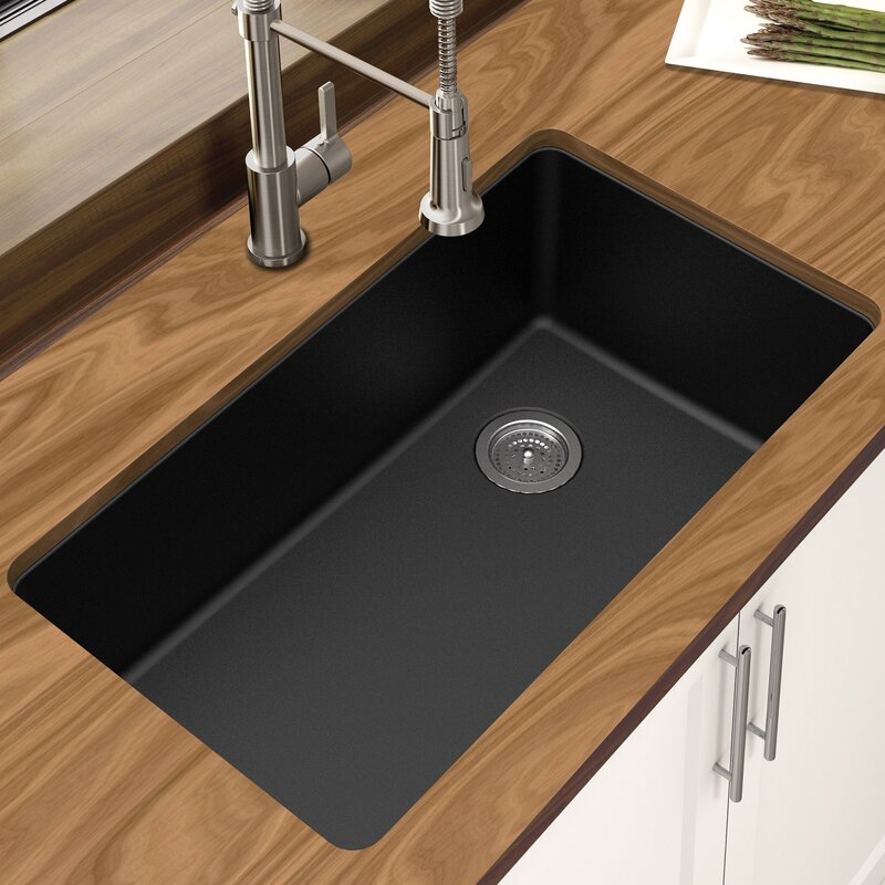 Granite Single Bowl Kitchen Sink Winpro granite quartz 33 x 1875 single bowl undermount kitchen granite quartz 33 x 1875 single bowl undermount kitchen sink workwithnaturefo