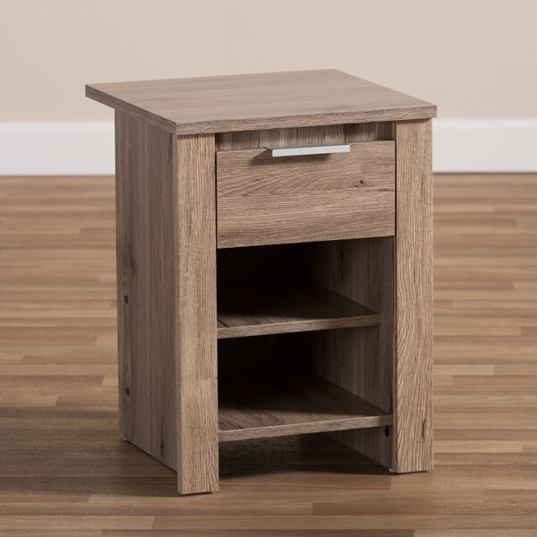 Choate 1 Drawer Nightstand by Union Rustic