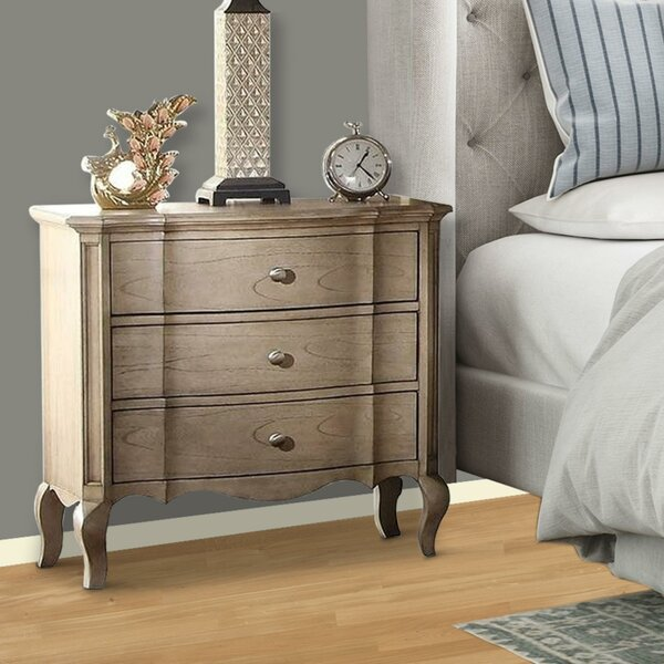 Dante 3 Drawer Nightstand by One Allium Way