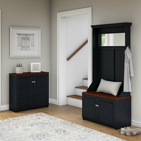 Fairview Entryway Storage Set with Hall Tree by Beachcrest Home Beachcrest Home
