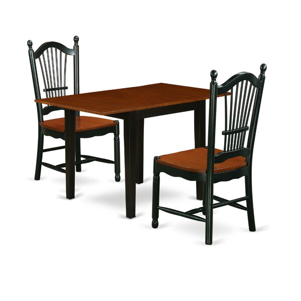 Clavene Drop Leaf Solid Wood Dining Set By Ophelia & Co.