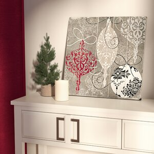 Silver Ornaments Graphic Art Plaque by Red Barrel Studio