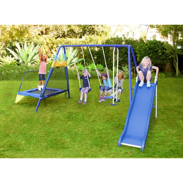 Almansor Trampoline/Slide and Swing Set by Sportsp