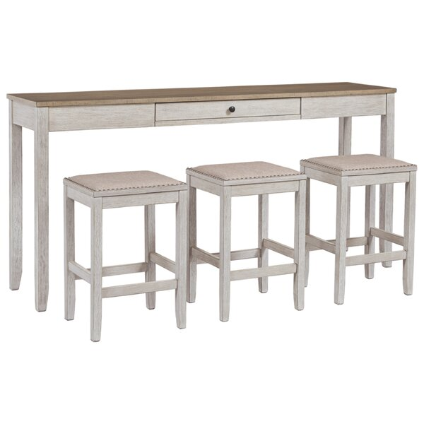 Buccigross 3 - Piece Solid Wood Dining Set by August Grove August Grove
