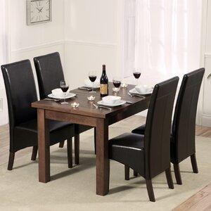 Essgruppe Pipers mit ausziehbarem Tisch und 4 Stühlen von Marlow Home Co.