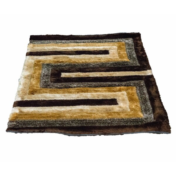 Letson Shaggy Hand-Knotted Beige/Gray Area Rug by Latitude Run