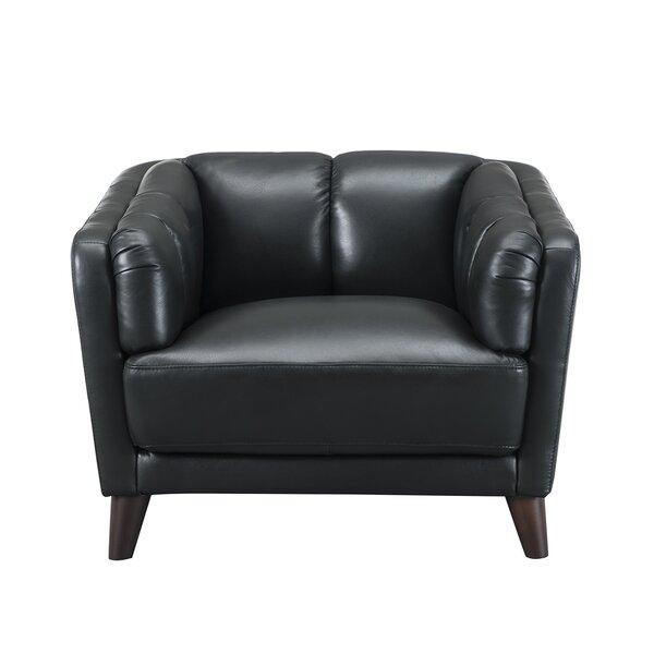 Zainab Leather Club Chair by Corrigan Studio