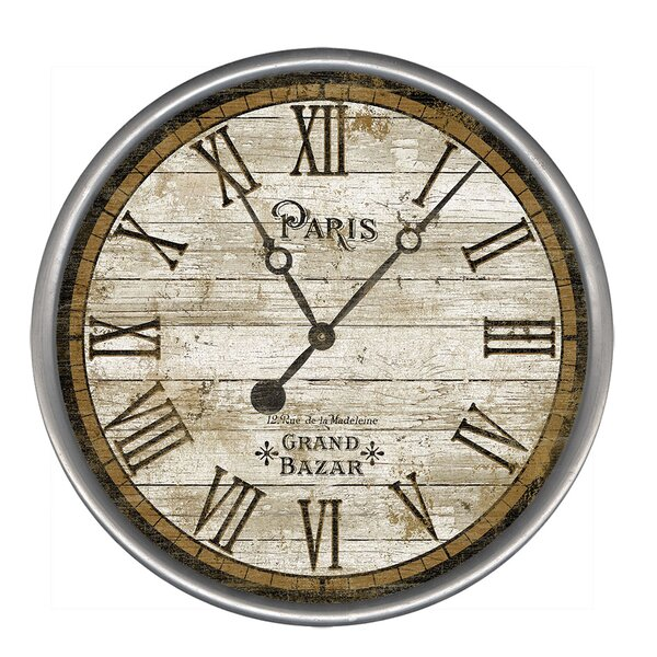 Classic Paris Wall Clock by Red Horse Arts