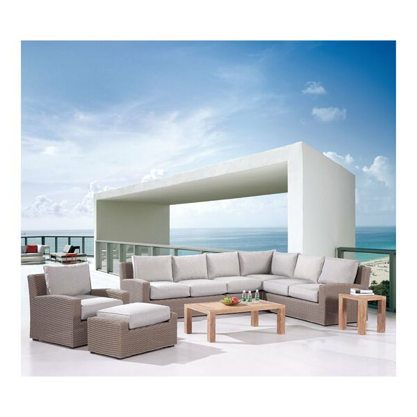 Reims Modular Patio Sectional Set with Cushions by Rosecliff Heights
