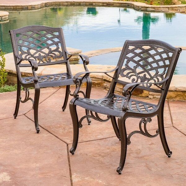 Jeannine Patio Dining Chair (Set of 2) by Fleur De Lis Living