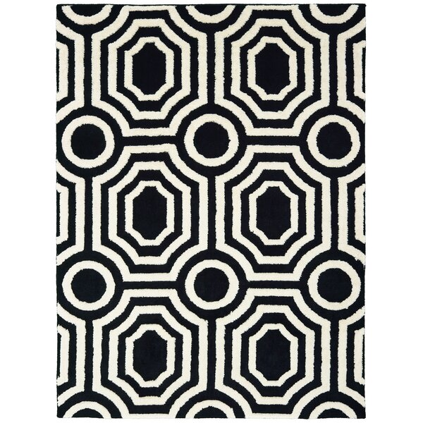 Alhambra Black/White Area Rug by Mercer41