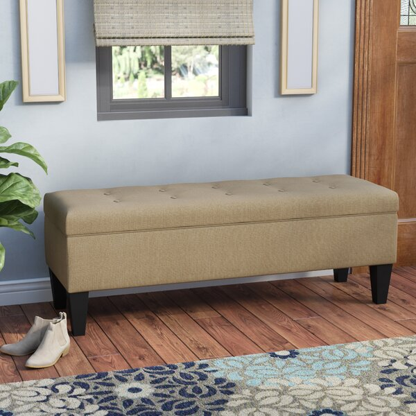 Tusarora Fabric Storage Bench by Three Posts