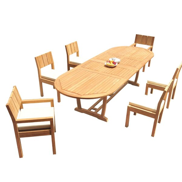 Shepha 7 Piece Teak Dining Set by Rosecliff Heights