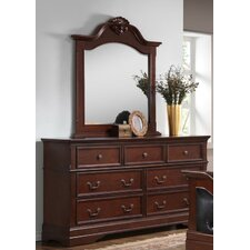 7 Drawer Combo Dresser with Mirror by Best Quality Furniture