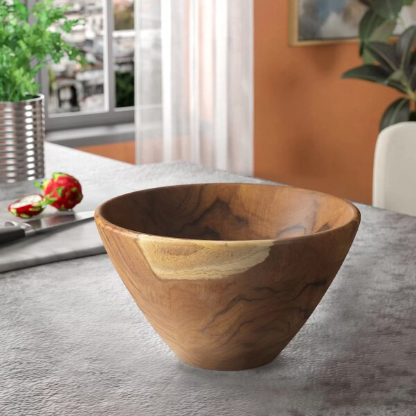 Mable Teak Wood High Salad Bowl by Zipcode Design