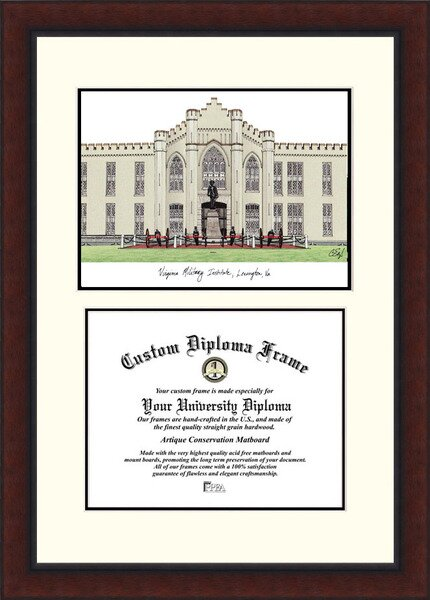 NCAA Virginia Military Institute Legacy Scholar Diploma Picture Frame by Campus Images