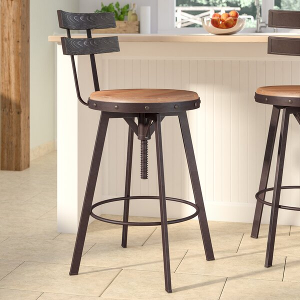 Henley Adjustable Swivel Bar Stool by Laurel Foundry Modern Farmhouse