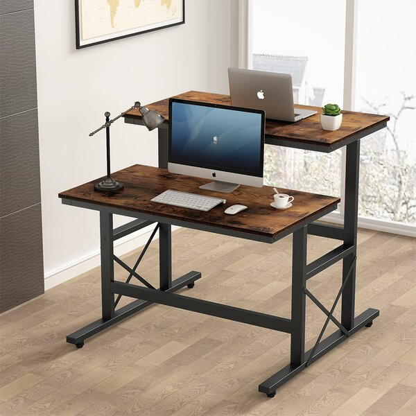 Sit and Stand Double Reversible Desk