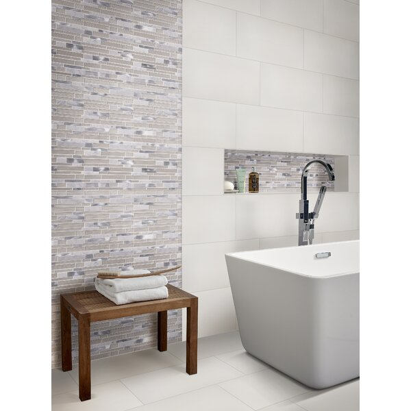 Domino 12 x 24 Porcelain Field Tile in Matte White by MSI