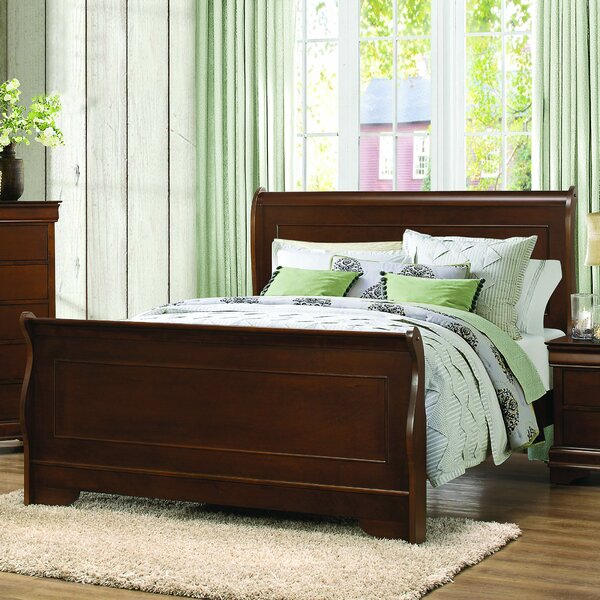 Alivia Solid Wood Low Profile Sleigh Bed by Alcott Hill Alcott Hill