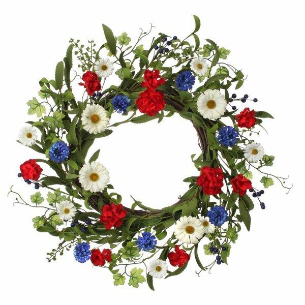 24 Daisy and Cornflower Wreath by Regency International