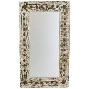Gracie Oaks Rectangle Handcrafted Accent Mirror