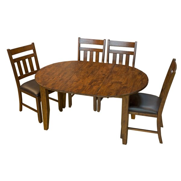 Caracara 5 Piece Drop Leaf Solid Wood Dining Set by Trent Austin Design