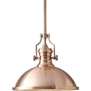 Modern copper pendant lighting allmodern waltham 1 light bowl pendant aloadofball Images