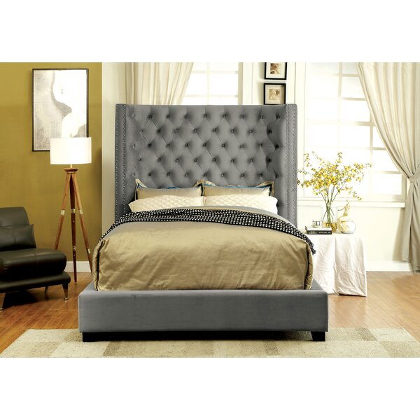 Steph Flannelette Upholstered Standard Bed by Willa Arlo Interiors
