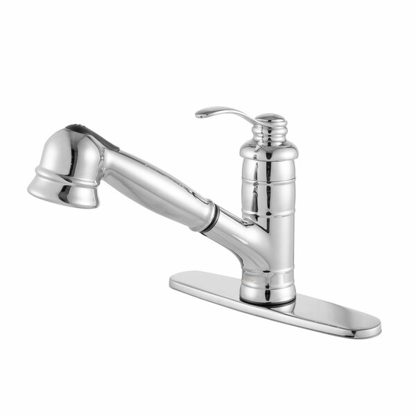 Shelton Single Handle Pull Out Standard Kitchen Faucet by Maykke
