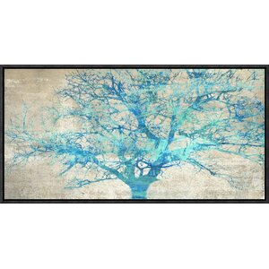 'Turquoise Tree' by Alessio Aprile Framed Painting Print on Canvas by Global Gallery
