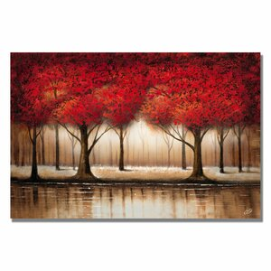 'Parade of Red Trees' on Canvas by Trademark Fine Art