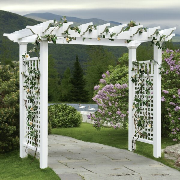 Fairfield Grande Vinyl Arbor by New England Arbors