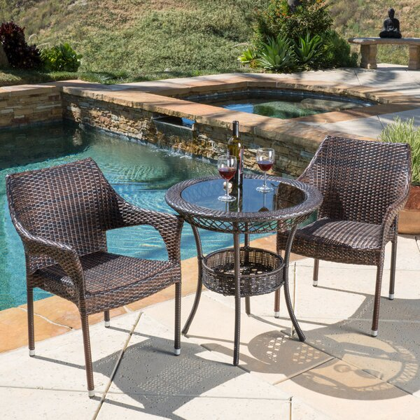 Tudor City 3 Piece Bistro Set by Highland Dunes