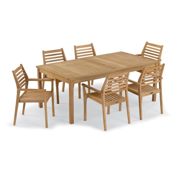 Crossland 7 Piece Dining Set by Rosecliff Heights