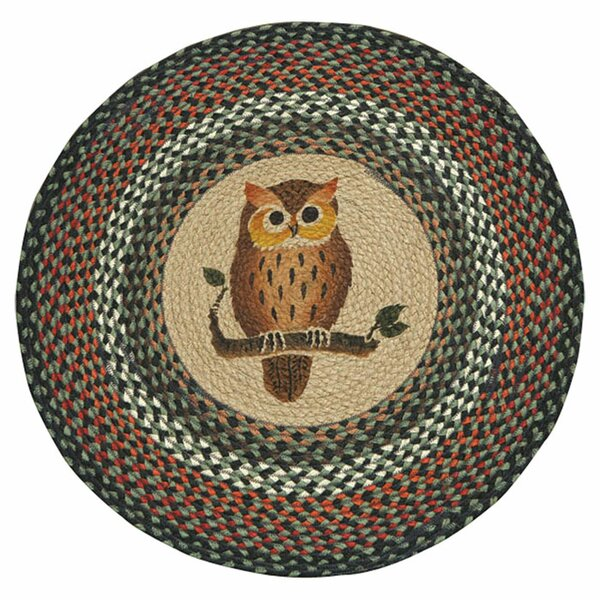 Owl Printed Area Rug by Earth Rugs