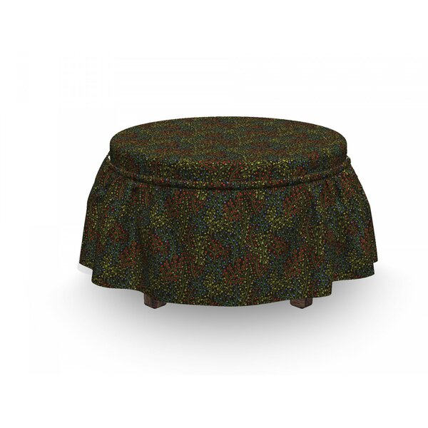 Garden Art Wildlife Of Forest 2 Piece Box Cushion Ottoman Slipcover Set By East Urban Home