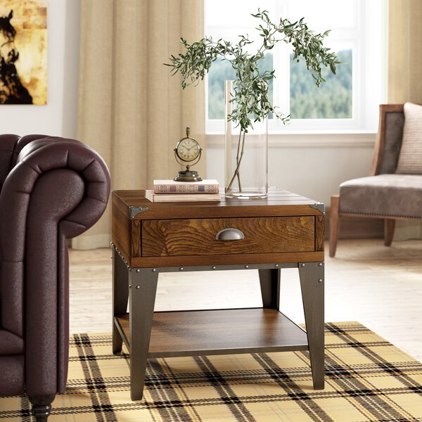 Quinton End Table With Storage By Loon Peak