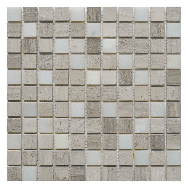 Soul Surge 1 x 1 Marble Mosaic Tile in Surge White/Gray by Matrix Stone USA