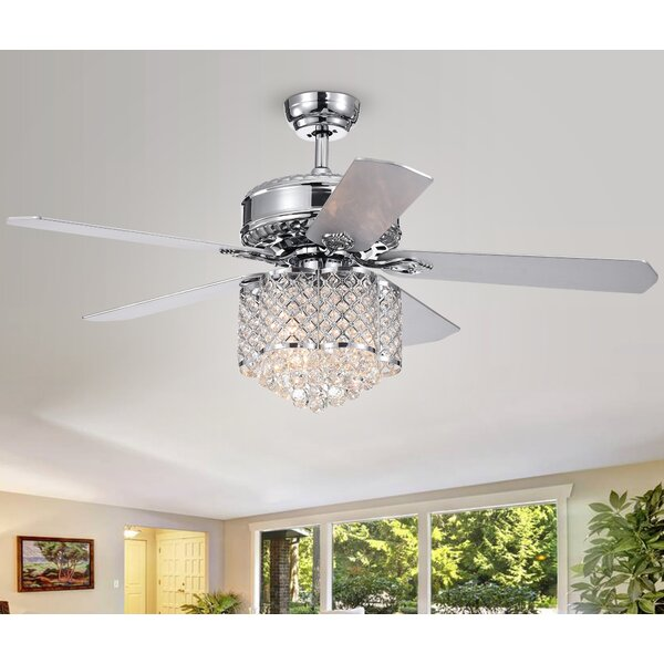 Wethington 52 5 Blade LED Ceiling Fan with Remote by House of Hampton