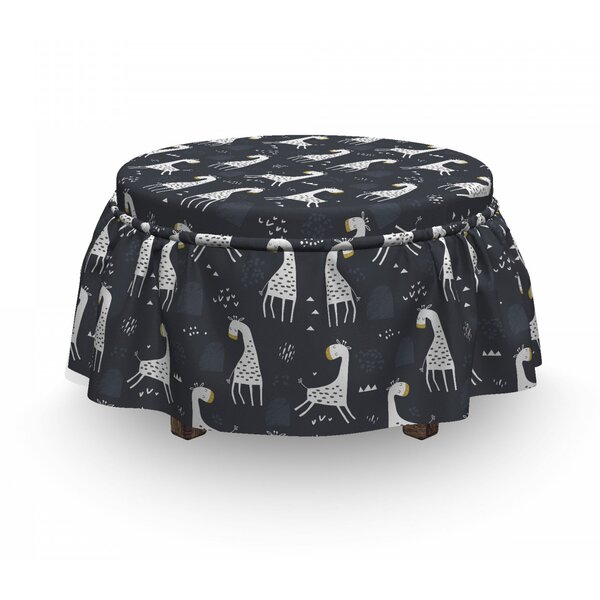 Cartoon Giraffe Ottoman Slipcover (Set Of 2) By East Urban Home