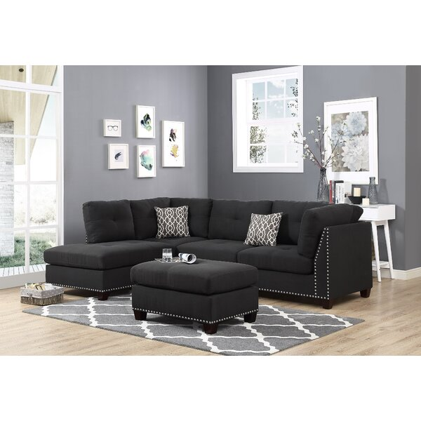 Lach Sectional with Ottoman by Brayden Studio