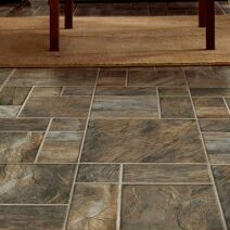 15.95 x 47.76 x 8mm Tile Laminate Flooring in Brown by Armstrong Flooring