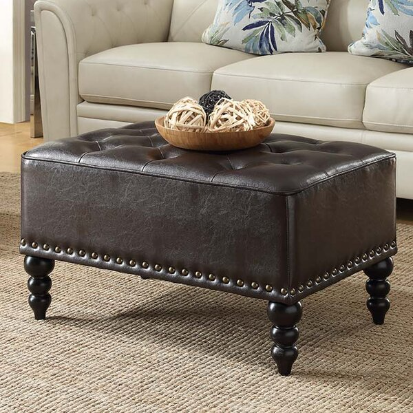 Newman Cocktail Tufted Ottoman by Alcott Hill