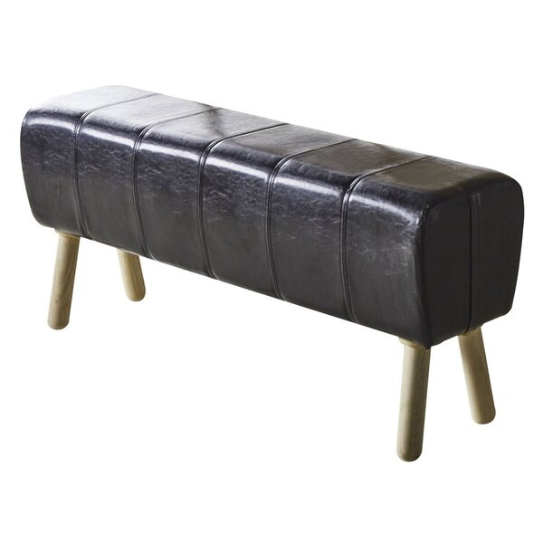 Azaria Faux Leather Bench by Beachcrest Home